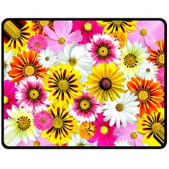 Flowers Blossom Bloom Nature Plant Fleece Blanket (medium)