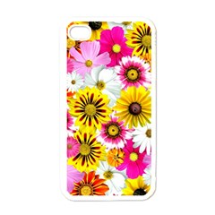 Flowers Blossom Bloom Nature Plant Apple iPhone 4 Case (White)