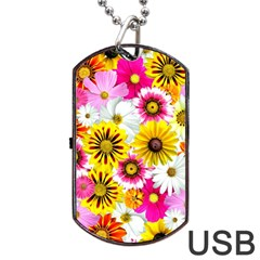 Flowers Blossom Bloom Nature Plant Dog Tag USB Flash (Two Sides)