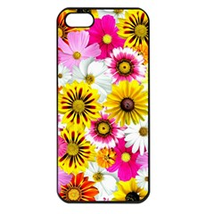 Flowers Blossom Bloom Nature Plant Apple Iphone 5 Seamless Case (black)