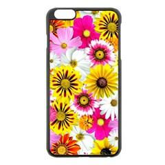 Flowers Blossom Bloom Nature Plant Apple iPhone 6 Plus/6S Plus Black Enamel Case