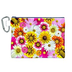 Flowers Blossom Bloom Nature Plant Canvas Cosmetic Bag (XL)