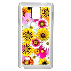 Flowers Blossom Bloom Nature Plant Samsung Galaxy Note 4 Case (White)