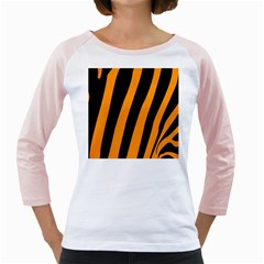Tiger Pattern Girly Raglans
