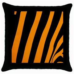 Tiger Pattern Throw Pillow Case (Black)