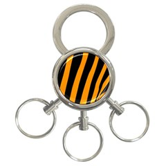 Tiger Pattern 3 Ring Key Chains