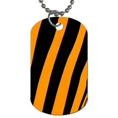 Tiger Pattern Dog Tag (Two Sides)