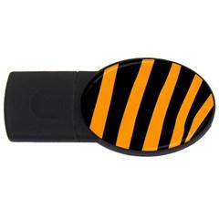 Tiger Pattern USB Flash Drive Oval (1 GB)