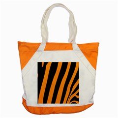 Tiger Pattern Accent Tote Bag