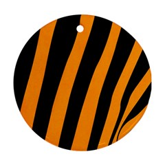 Tiger Pattern Round Ornament (Two Sides)