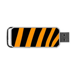 Tiger Pattern Portable Usb Flash (two Sides)