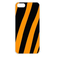 Tiger Pattern Apple iPhone 5 Seamless Case (White)