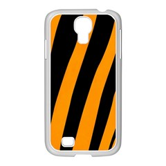 Tiger Pattern Samsung GALAXY S4 I9500/ I9505 Case (White)