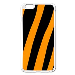 Tiger Pattern Apple iPhone 6 Plus/6S Plus Enamel White Case
