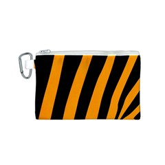 Tiger Pattern Canvas Cosmetic Bag (S)