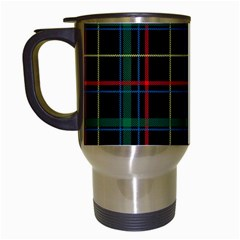 Plaid Tartan Checks Pattern Travel Mugs (white)