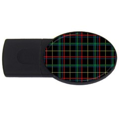 Plaid Tartan Checks Pattern USB Flash Drive Oval (4 GB)