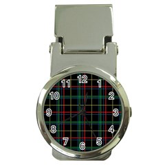 Plaid Tartan Checks Pattern Money Clip Watches