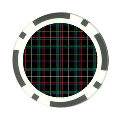 Plaid Tartan Checks Pattern Poker Chip Card Guard