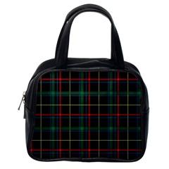 Plaid Tartan Checks Pattern Classic Handbags (One Side)