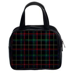 Plaid Tartan Checks Pattern Classic Handbags (2 Sides)