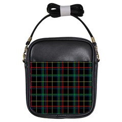 Plaid Tartan Checks Pattern Girls Sling Bags