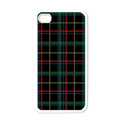 Plaid Tartan Checks Pattern Apple iPhone 4 Case (White)