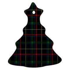 Plaid Tartan Checks Pattern Ornament (Christmas Tree)