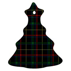 Plaid Tartan Checks Pattern Christmas Tree Ornament (Two Sides)