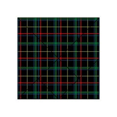 Plaid Tartan Checks Pattern Acrylic Tangram Puzzle (4  x 4 )