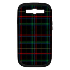 Plaid Tartan Checks Pattern Samsung Galaxy S Iii Hardshell Case (pc+silicone)