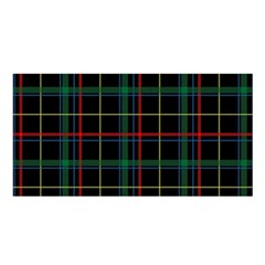 Plaid Tartan Checks Pattern Satin Shawl