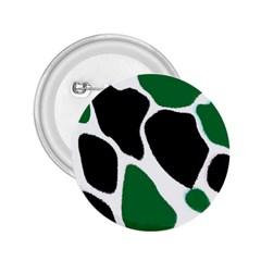 Green Black Digital Pattern Art 2.25  Buttons