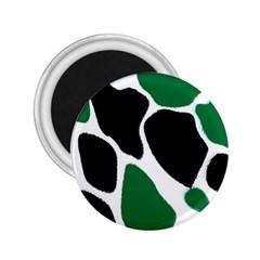 Green Black Digital Pattern Art 2 25  Magnets