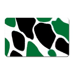 Green Black Digital Pattern Art Magnet (Rectangular)