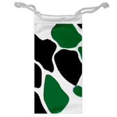 Green Black Digital Pattern Art Jewelry Bag