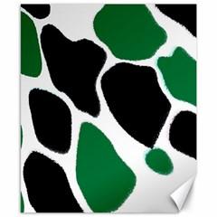 Green Black Digital Pattern Art Canvas 8  x 10