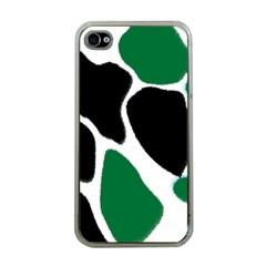 Green Black Digital Pattern Art Apple iPhone 4 Case (Clear)
