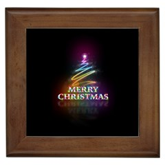 Merry Christmas Abstract Framed Tiles