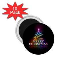 Merry Christmas Abstract 1 75  Magnets (10 Pack)