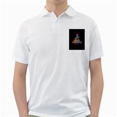 Merry Christmas Abstract Golf Shirts