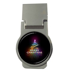 Merry Christmas Abstract Money Clips (Round)