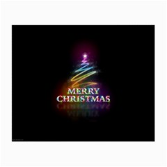 Merry Christmas Abstract Small Glasses Cloth