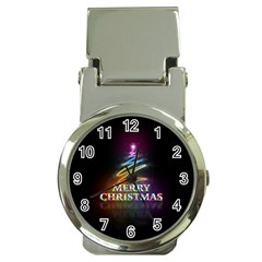 Merry Christmas Abstract Money Clip Watches