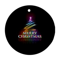 Merry Christmas Abstract Round Ornament (Two Sides)