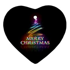 Merry Christmas Abstract Heart Ornament (Two Sides)
