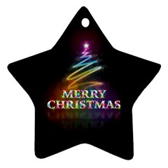 Merry Christmas Abstract Star Ornament (Two Sides)