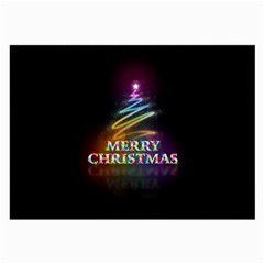 Merry Christmas Abstract Large Glasses Cloth
