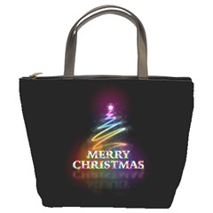 Merry Christmas Abstract Bucket Bags