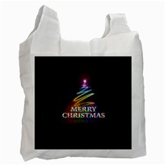 Merry Christmas Abstract Recycle Bag (Two Side)